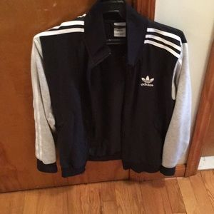 Boys Adidas Cotton zip up sweater